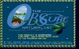 The Obscure Naturalist Atari ST Title screen