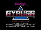 Gyruss NES Title screen