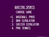 Quattro Sports NES Choose a game