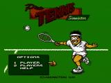 Quattro Sports NES Title screen (Pro Tennis Simulator)