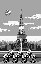 Tane o Maku Tori WonderSwan The game ends in Paris.