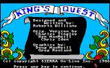 King's Quest Amiga The title screen.