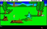 King's Quest Amiga Walking along the countryside of Daventry.