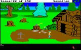 King's Quest Amiga Outside of the woodcutter's home.