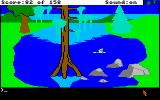 King's Quest Amiga Graham can swim as well as walk.