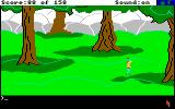 King's Quest Amiga Walking along the Land of Clouds.