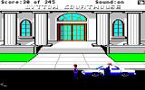 Police Quest: In Pursuit of the Death Angel Amiga Outside the courthouse.