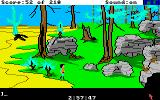 King's Quest III: To Heir is Human Amiga Near some rocks.