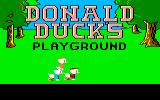 Donald Duck's Playground Amiga The title screen.