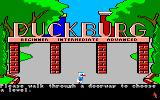 Donald Duck's Playground Amiga Choose what level you want to play at.