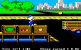 Donald Duck's Playground Amiga Working out the produce. You need to catch the fruits and stick them in the right bins.