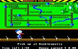 Donald Duck's Playground Amiga The train depot job. You need to switch the switches so the train will go to the right spot.