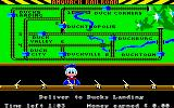 Donald Duck's Playground Amiga The train has made a pickup, now deliver to Duck Landing.