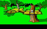 Donald Duck's Playground Amiga A tree house in the park.
