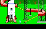 Donald Duck's Playground Amiga A giant rocket ship slide in the park.