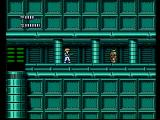 Journey to Silius NES A narrow pathway is blocked by a robot