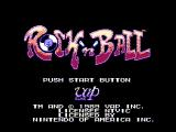 Rock 'n Ball NES Title screen