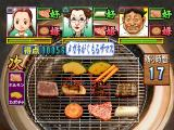 Yakiniku Bugyou PlayStation That piece of meat turned to coal! You have to chop it away from the grate now in order to put new food there.