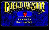 Gold Rush! Amiga Title screen and credits.