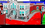 Gold Rush! Amiga Outside of the newspaper building, where you work.