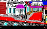 Gold Rush! Amiga Outside of the stage travel agency.