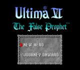 Ultima VI: The False Prophet SNES Title screen