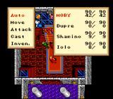 Ultima VI: The False Prophet SNES Battle menu