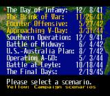 P.T.O.: Pacific Theater of Operations II SNES Choose a scenario