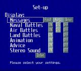 P.T.O.: Pacific Theater of Operations II SNES Set-up options