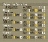 P.T.O.: Pacific Theater of Operations II SNES Ships in service stats