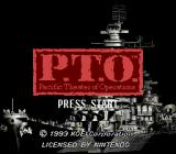 P.T.O.: Pacific Theater of Operations SNES Title screen