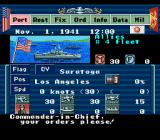 P.T.O.: Pacific Theater of Operations SNES In game menu