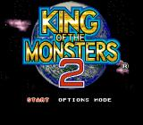 King of the Monsters 2: The Next Thing SNES Title screen