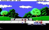 Police Quest: In Pursuit of the Death Angel DOS Visiting the park, and busting some creeps. (EGA/Tandy/MCGA)