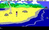 King's Quest III: To Heir is Human DOS Walking along a beach. (EGA/Tandy)