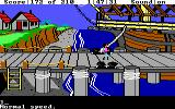 King's Quest III: To Heir is Human DOS On the dock. (EGA/Tandy)