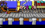King's Quest III: To Heir is Human DOS A ship at the docks. (EGA/Tandy)