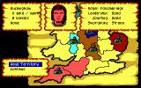 Defender of the Crown PC Booter A territory owned by Roger Falconbridge, a Norman Lord. (EGA/Tandy)