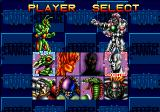 Cosmic Carnage SEGA 32X Player Select