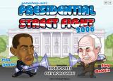 Presidential Street Fight 2008 Browser The title screen.