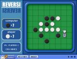 Reversi Browser The computer is about to put down a brick, turning the entire row black.