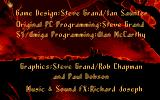 The Adventures of Robin Hood Amiga Credits Screen