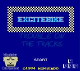 Excitebike: Trouble on the Tracks Browser Title screen.