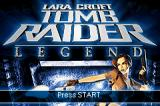 Lara Croft: Tomb Raider - Legend Game Boy Advance Title screen
