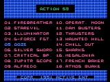 Action 52 NES Choose a game from one of the three menus