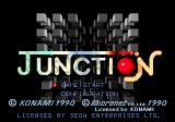 Junction Genesis Title screen