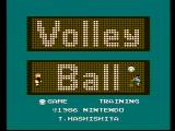 Volleyball NES Title screen