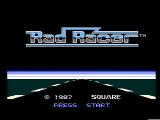 Rad Racer NES Title screen