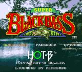 Super Black Bass SNES Main menu
