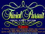 Trivial Pursuit SEGA Master System Title screen